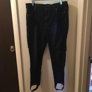 Lane Bryant Skinny Stirrup Midrise Jeans 18